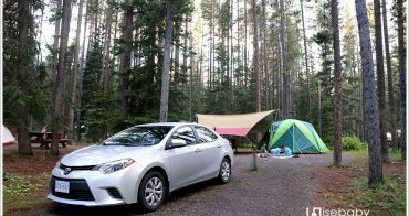 加拿大   露營。Lake Louise Campground.地松鼠就在帳篷前的野生動物園營地