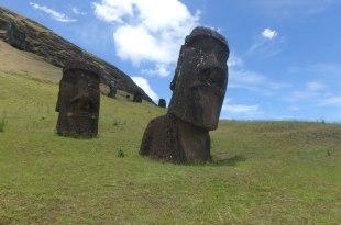 復活島景點|國家公園Rano Raruku看旅遊書上摩艾!