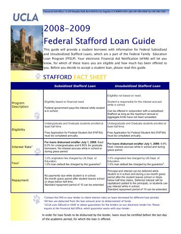William D. Ford Federal Direct Loan Program Direct ... - Financial Aid