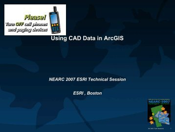 The Benefits of AutoCAD Map 3D to AutoCAD Users Using CAD Data in ArcGIS   Northeast Arc Users Group