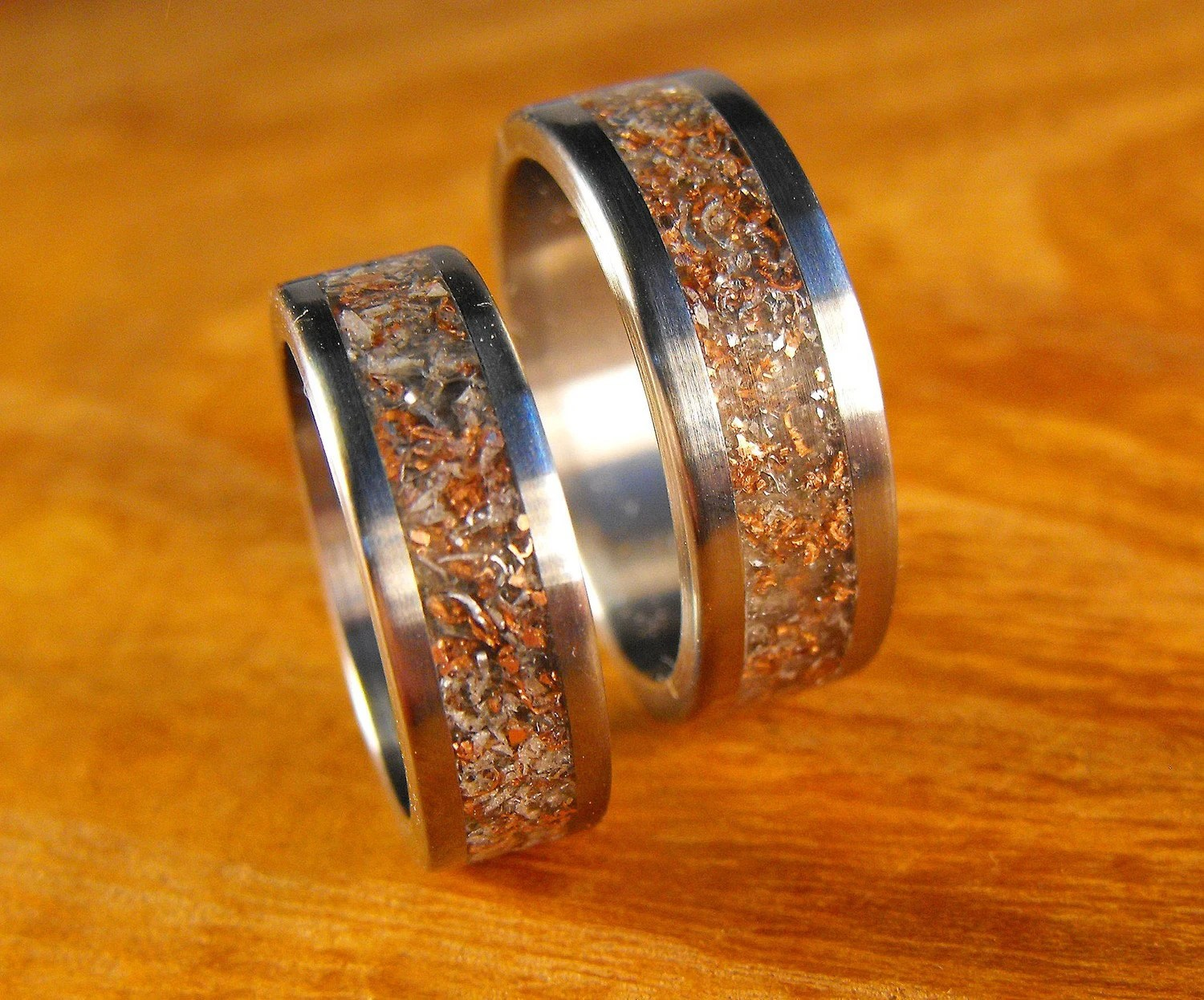 titanium rings wedding rings his and unique wedding band sets zoom