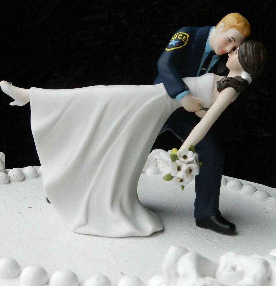 police cake topper police wedding bands Police Officer cop groom uniform Wedding Cake Topper Dance Bride Gun classic YOUR PATCH