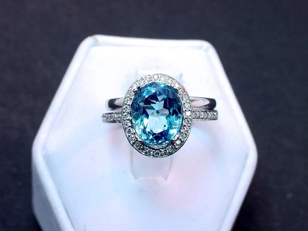 Help finding a symbolic anniversarywedding ring hsn wedding rings Blue Topaz