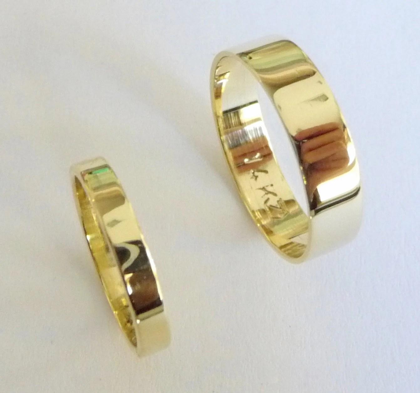 wedding band set 14k gold wedding rings cartier wedding band mens men gold wedding bands flat shiny zoom