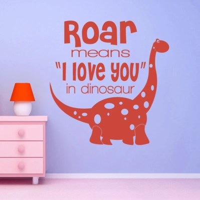 ON SALE Roar means I love you in Dinosaur - kids wall mural - Vinyl Wall Decal Sticker Art