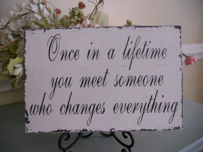 Items similar to Wedding sign...Once in a life time..Bride ...