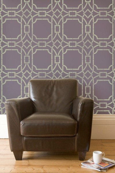 Large Modern Trellis Wall Stencils for Geometric Designer