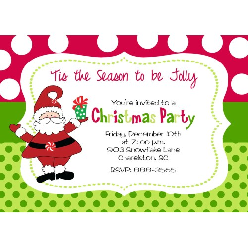 Medium Crop Of Christmas Party Invitation Template