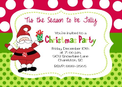 Medium Of Christmas Party Invitation Template