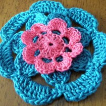 Pink and Blue Flower Hair Clip from Arizona Sunshine Girls