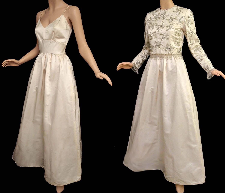 vintage 60s wedding gown s ivory 60's wedding dress zoom