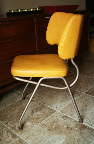 retro yellow vinyl kitchen desk chair by retro kitchen chairs zoom