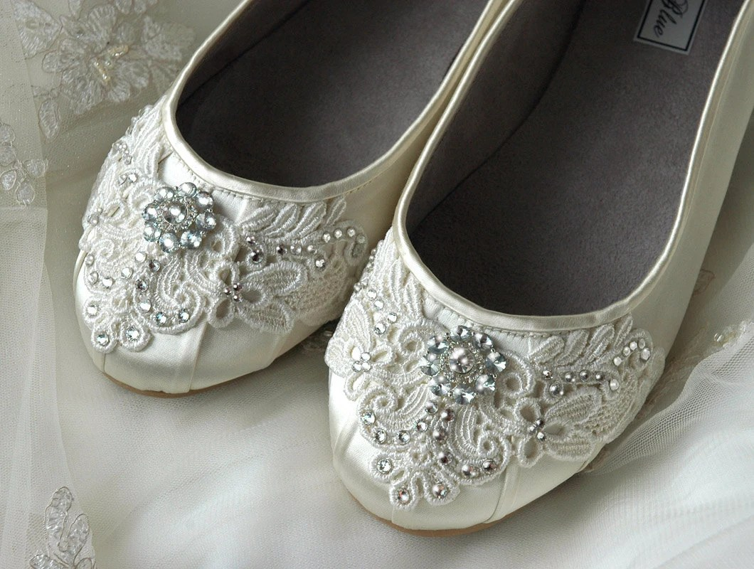 womens wedding shoes lace wedding ballet wedding slippers zoom