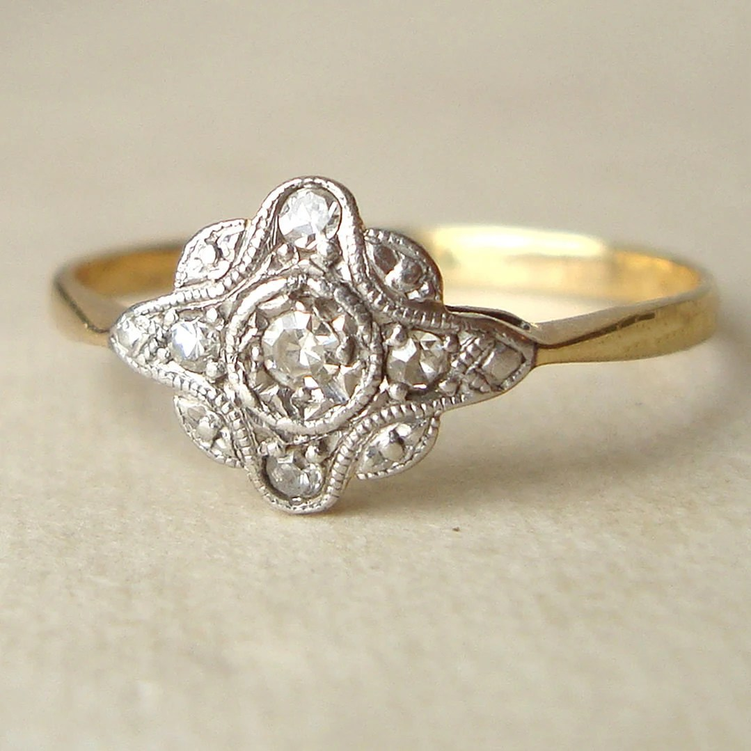 art deco engagement ring antique diamond art deco wedding ring Antique Diamond Ring Diamond 9k Gold Wedding Ring Approximate zoom