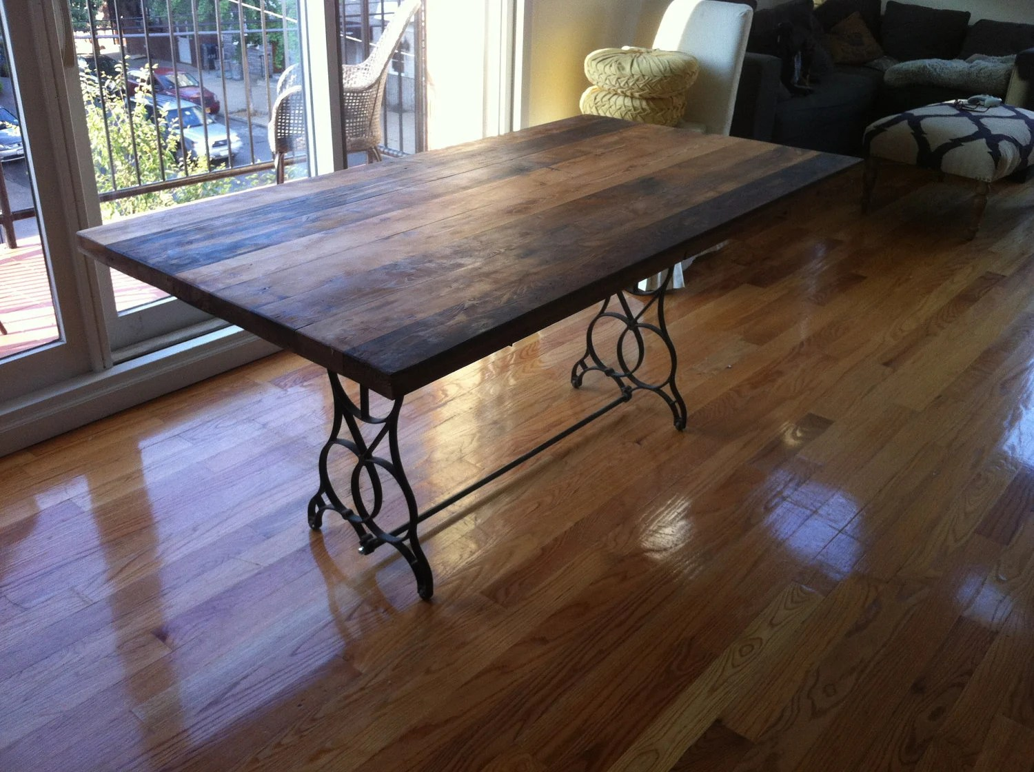 reclaimed wood table top dining table high top kitchen tables zoom