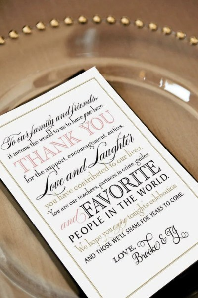 Printable Wedding Thank You Note for Guests Calligraphy