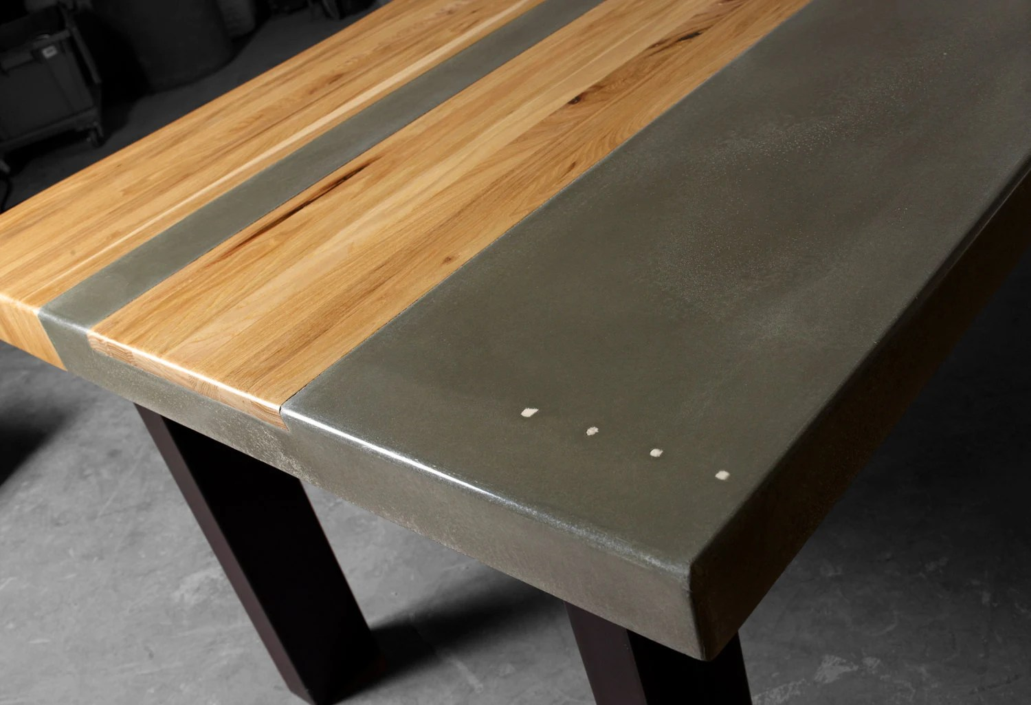 concrete wood steel dining kitchen table wood kitchen tables Concrete Wood Steel Dining Kitchen Table zoom