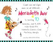 Birthday invitation  girl...