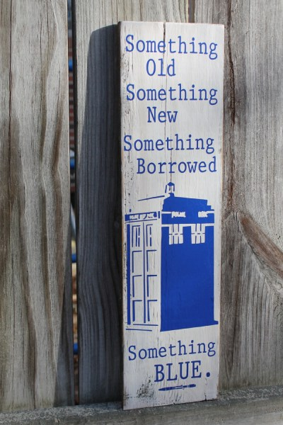 Something OLD new BORROWED Blue TARDIS Doctor Dr Who Sonic