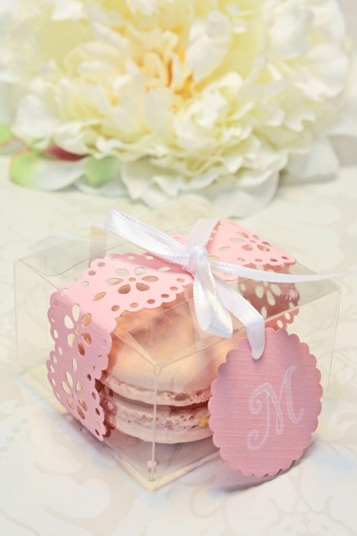 pink macaron favor box wedding favor wedding favor boxes Pink Macaron Favor box Wedding Favor Boxes Set of 30 Favor Boxes Bridal or Wedding Favors