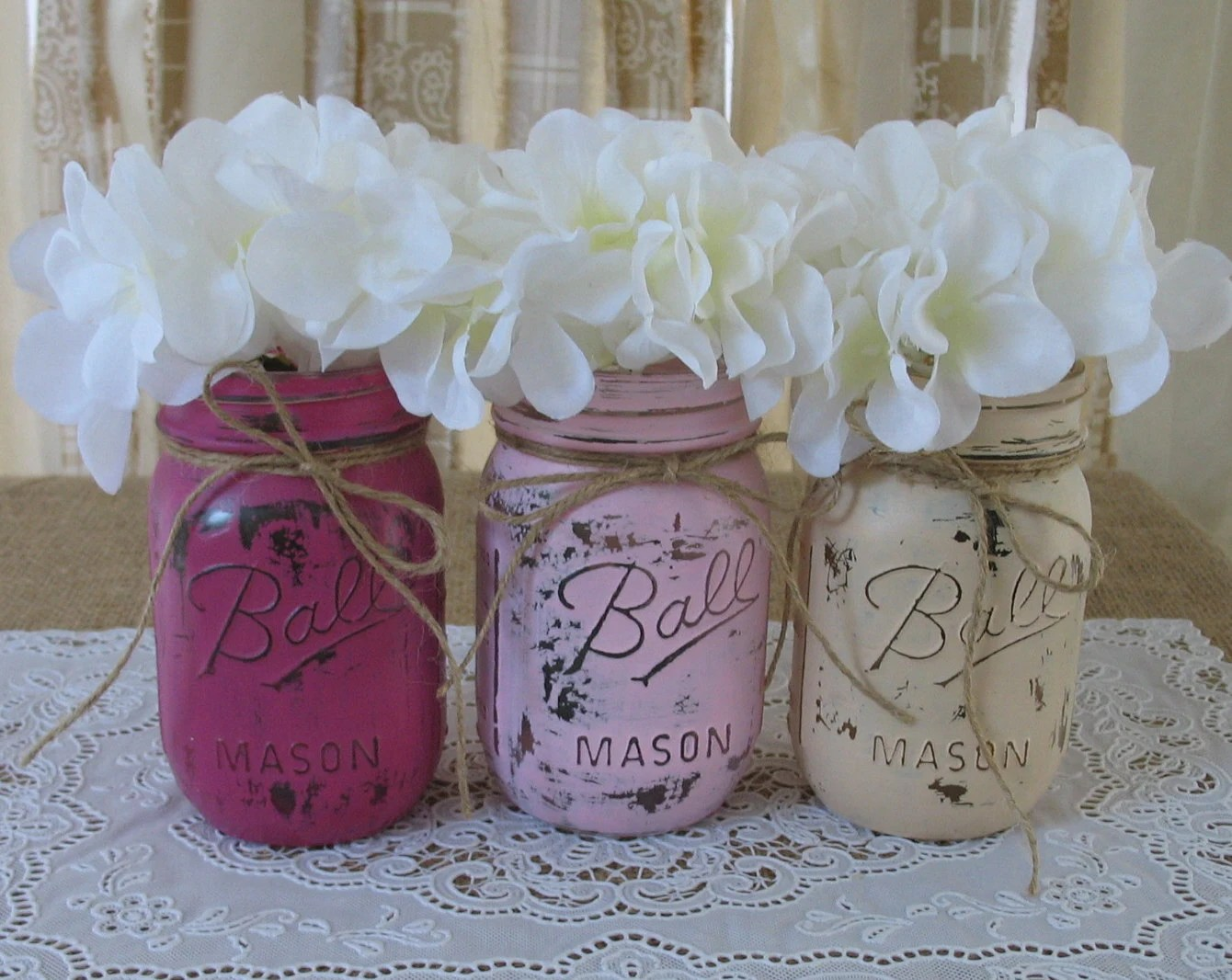 sale 3 pint mason jars painted mason wedding centerpieces for sale zoom