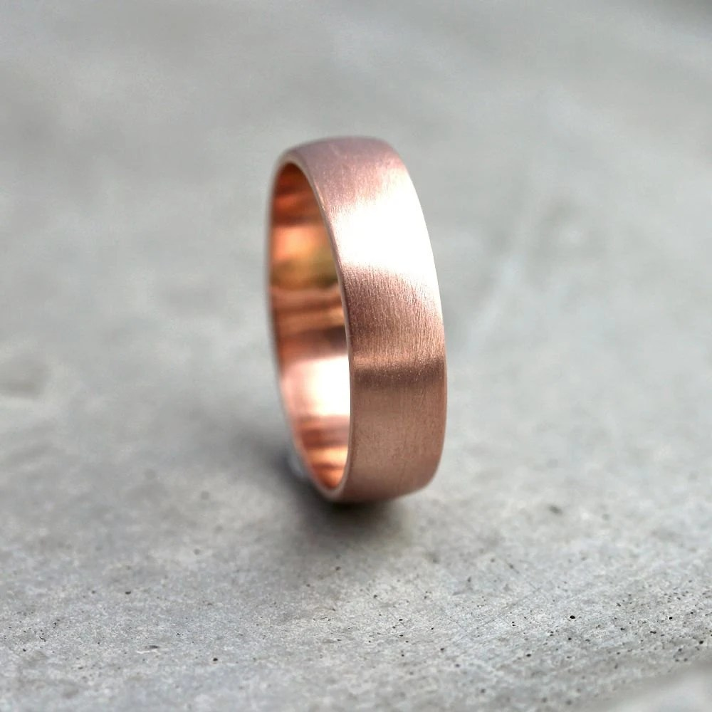 wide rose gold mens wedding band mens gold wedding band zoom