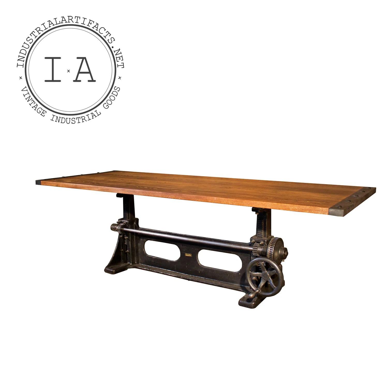 vintage industrial adjustable dining industrial kitchen table zoom