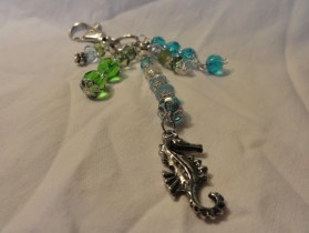 "Go ""under the sea"" with this beautiful zipper pull/dangle/purse charm - seahorse!"
