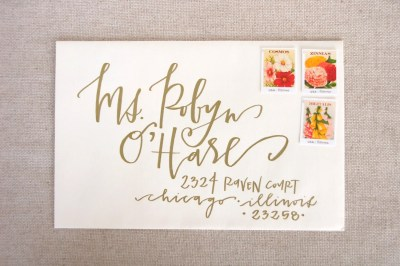 Wedding Calligraphy Envelope Addressing Gold by ...