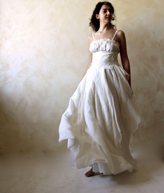 bohemian wedding dress bridal gown boho wedding dress Alternative wedding dress hippie zoom