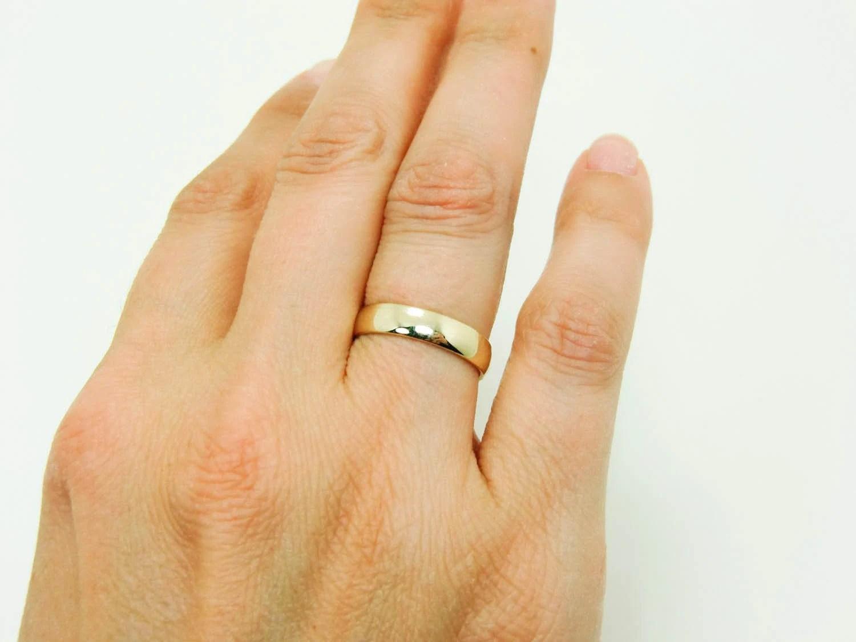 1mm wedding band plain gold wedding bands 14 Karat Gold Ring Pure 14K Gold Wedding Band Real 14K Gold Half Round Ring mm Mens Gold Wedding Band Womens Gold Wedding Ring