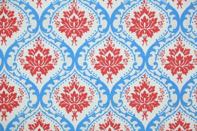 Retro Wallpaper by the Yard 60s Vintage Wallpaper Red and