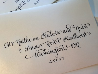 Hand Written Calligraphy Envelopes Script by ...