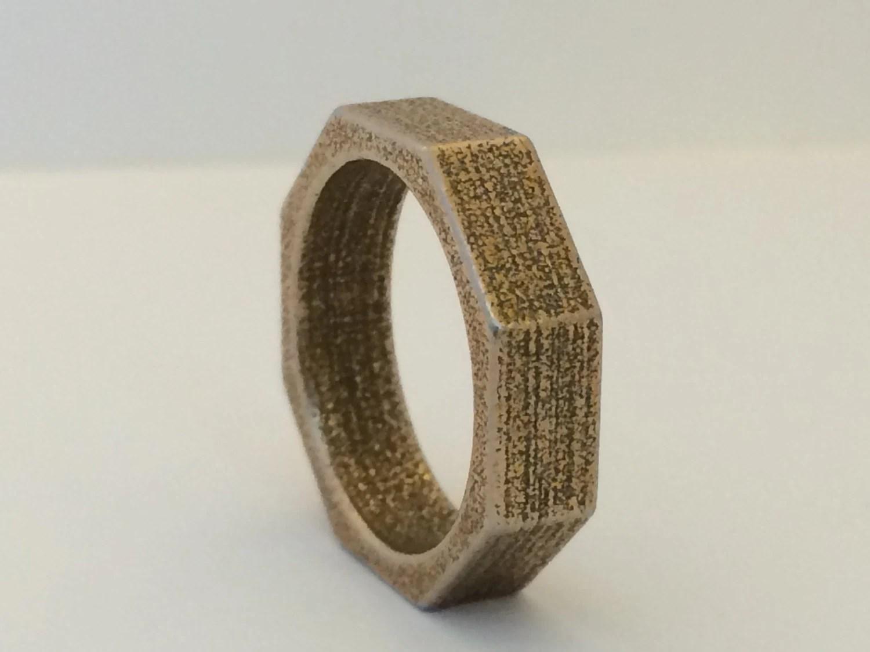 6mm mens steel wedding band nut and bolt mechanic wedding ring zoom