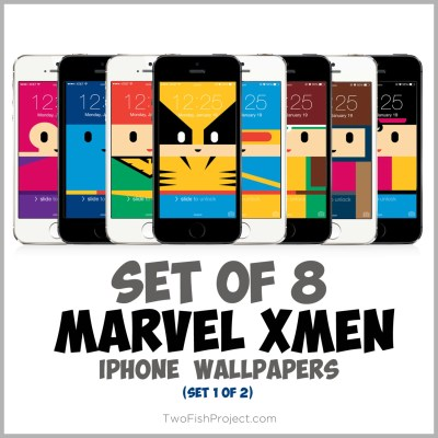 Cute Marvel X-men iPhone wallpapers Wolverine Cyclops