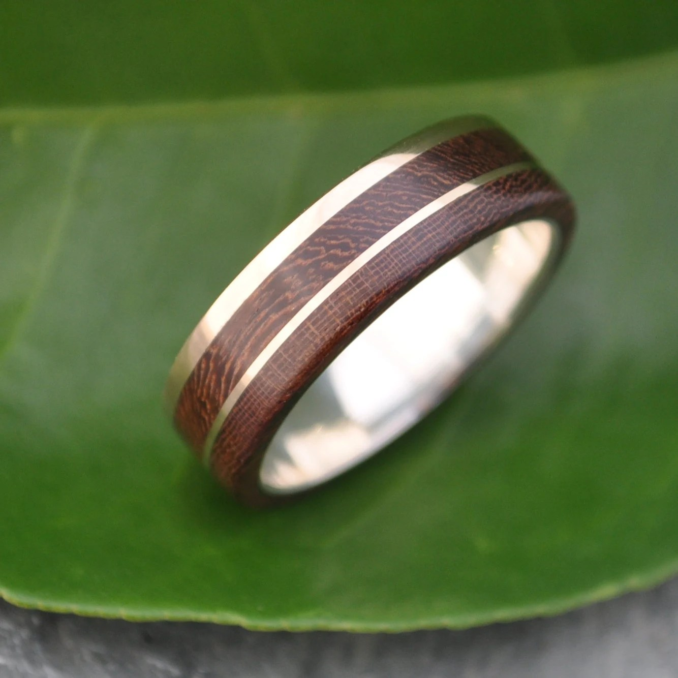 gold and silver un lado asi wood ring wooden wedding bands mens wood wedding band zoom