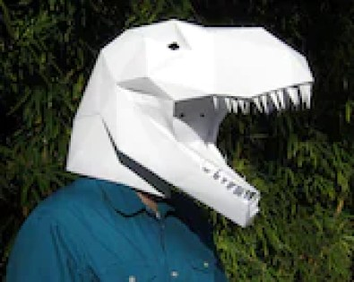 Make Your Own T-Rex Mask with just Paper and Glue!
