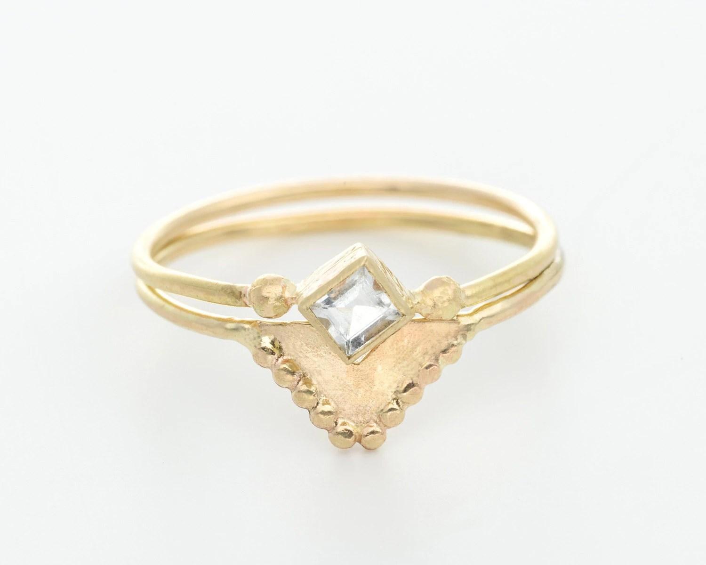 moonstone wedding ring set moonstone wedding rings moonstone wedding ring set image