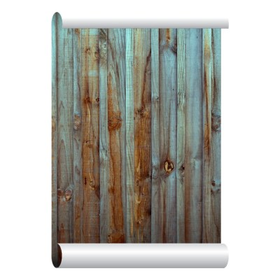 Self-adhesive Removable Wallpaper Old Wood Fence Wallpaper