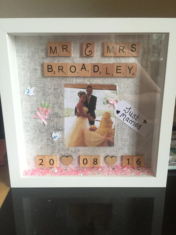 personalised wedding gift wedding shadow wedding shadow box zoom