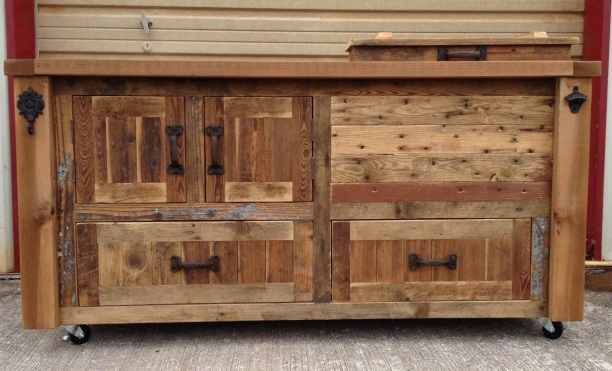 custom reclaimed or barnwood furniture kitchen console table zoom