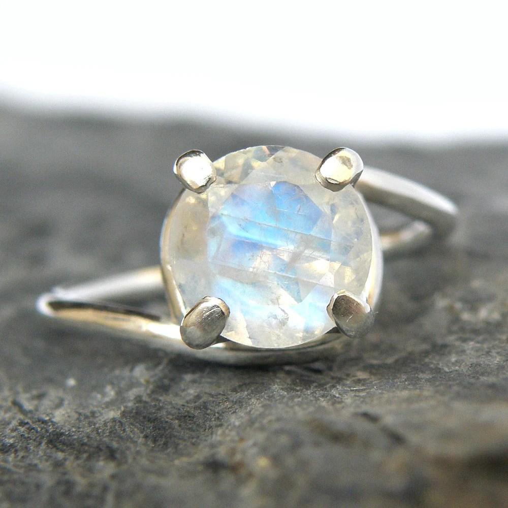 rainbow moonstone engagement ring in moonstone wedding rings zoom