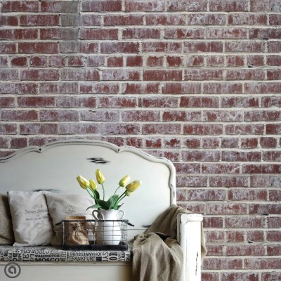Removable Brick Wallpaper Distressed Peel & Stick Self