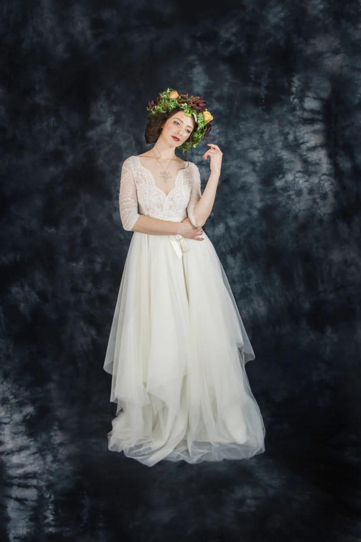 ivory lace bohemian wedding dress boho boho wedding dress zoom