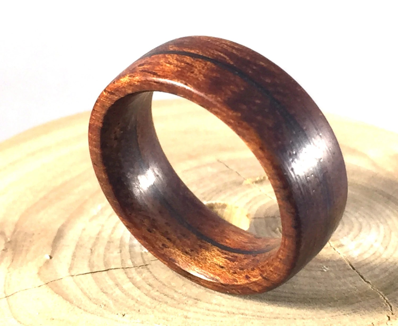 mens wedding ring unique mens wedding rings Mens Ring Wooden Ring Mens Wood Ring wood ring Koa wood ring Wood Wedding Band Mens Wedding band wood jewelry Hawaiian wood ring