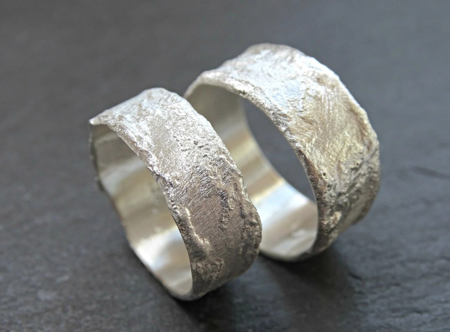 abstract silver ring hsn wedding rings unique wedding rings rustic cool wilderness rings matching wedding bands silver structured rings abstract fused ring bands molten
