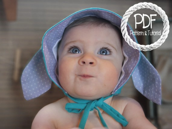 Bunny Bonney Sewing Pattern, Baby Bonnet Sewing Pattern, DIY, Easy Bonnet Pattern, Bonnets