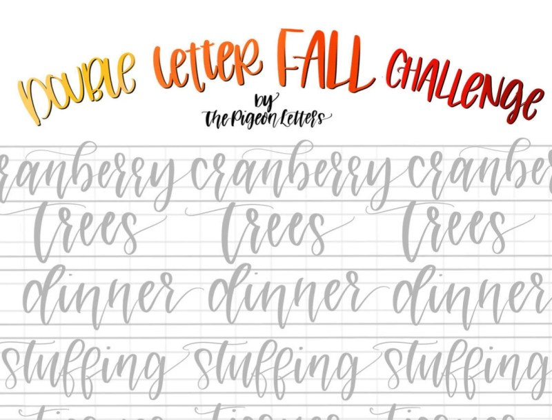Encouraging November Calligraphy Alphabet Free Printable Handwriting Abc Calligraphy Practice Sheets Printable Calligraphy Practice Sheets Free Practice Sheets Fall Letter Words