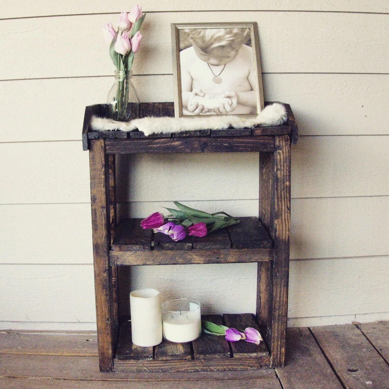 Fullsize Of Wooden Bathroom Shelf
