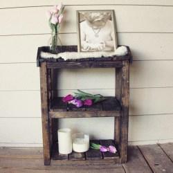 Small Crop Of Wooden Bathroom Shelf